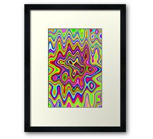 Psychedelic Glowing Colors Pattern Framed Print