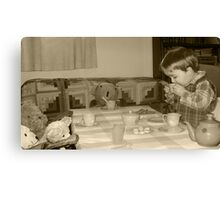 Sipping Tea with Friends Canvas Print
