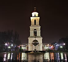 Chisinau at night by John Roshka