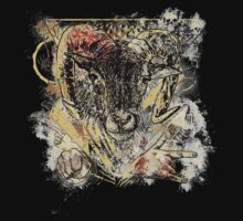 Bloody Cool Goat - Modern Grunge and Wicked Design by Denis Marsili - DDTK