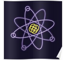 Gold - Silver Atomic Structure Poster