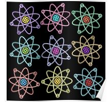 Gold - Silver Atomic Structure pattern Poster