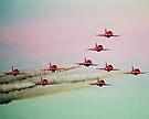 Red arrows RAF by Matt Sillence