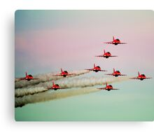 Red arrows RAF Canvas Print