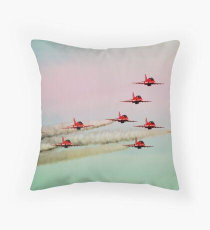 Red arrows RAF Throw Pillow