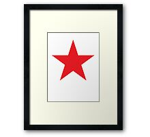 Red Star, Stardom, Power to the people! Stellar, Cosmic Framed Print