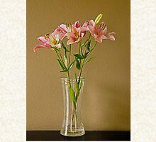 Pink Stargazer Lilies in Vase Hoodie