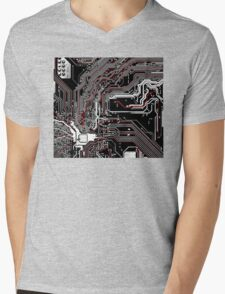 Metro - Project Chipset Mens V-Neck T-Shirt