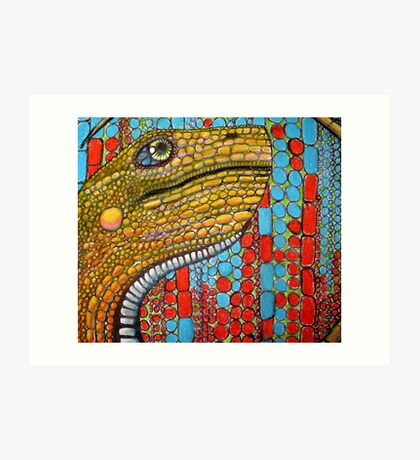 Digital Dino Art Print