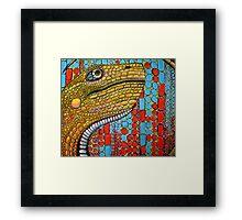 Digital Dino Framed Print