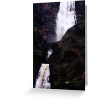 Highest waterfall in Britain... Greeting Card