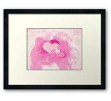 Cute couple in love Framed Print