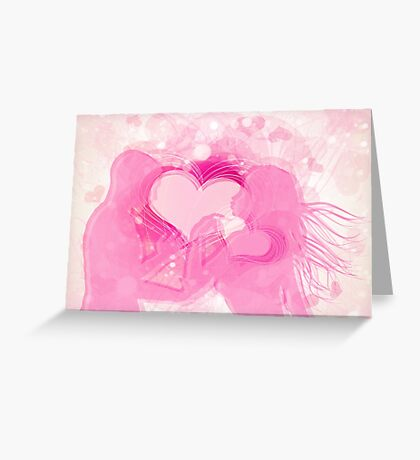 Cute couple in love Greeting Card