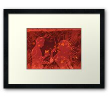Cute couple in love 2 Framed Print