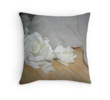 side view of eliza Throw Pillow