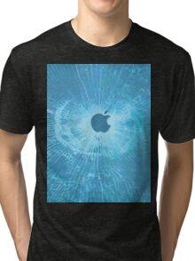 BLUE BULLET HOLE SMARTPHONE CASE (Graffiti) Tri-blend T-Shirt