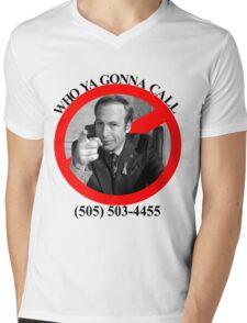 Who ya gonna call?  SAUL GOODMAN! Mens V-Neck T-Shirt