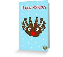 #HugsForNoah Rudolph Happy Holidays Greeting Card