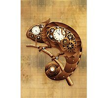 Steampunk Chameleon Vintage Style Photographic Print