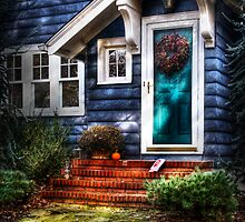 The blue house by Mike  Savad