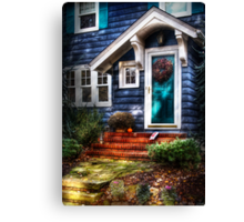 The blue house Canvas Print
