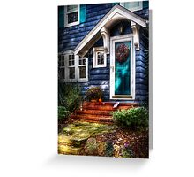 The blue house Greeting Card