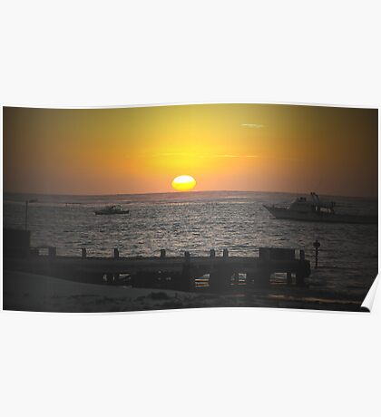 sunset series Lancelin W.A 2 Poster