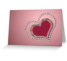 Heart of pearls Greeting Card