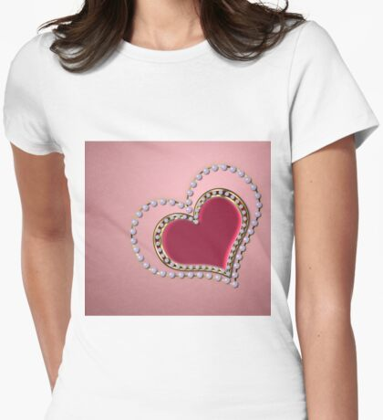 Heart of pearls Womens Fitted T-Shirt