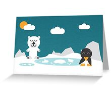 Icebear and friend Greeting Card