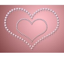 Heart of pearls 3 Photographic Print