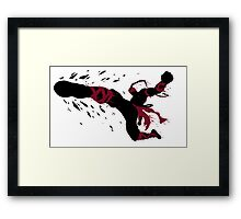 Lee Sin Ink Black Framed Print