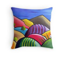 Winery Nights Throw Pillow