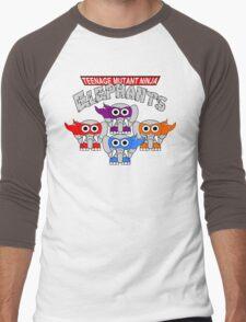 Teenage Mutant Ninja Elephants Men's Baseball ¾ T-Shirt