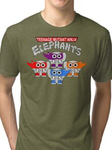 Teenage Mutant Ninja Elephants Tri-blend T-Shirt