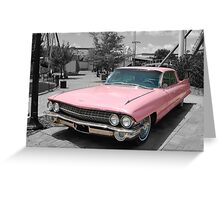 Pink in mono Greeting Card