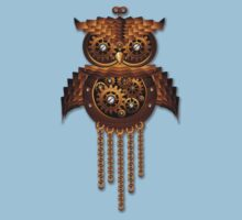 Steampunk Owl Vintage Style Kids Clothes