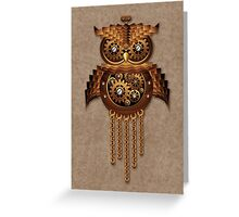 Steampunk Owl Vintage Style Greeting Card