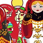 Matryoshka Babushka doll from Russia by SofiaYoushi