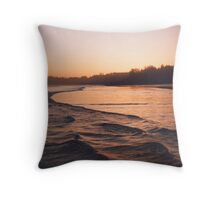 warm dusk Throw Pillow
