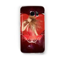 Girl with ribbon and big heart 2 Samsung Galaxy Case/Skin
