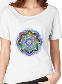 Mandala Psychedelic Art Design Women's Relaxed Fit T-Shirt