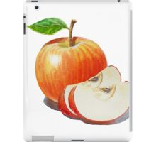 Red Apple With Slices iPad Case/Skin