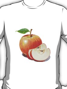 Red Apple With Slices T-Shirt