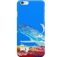Moby Dick and the Red Sea iPhone Case/Skin