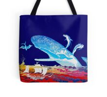 Moby Dick and the Red Sea Tote Bag