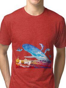 Moby Dick and the Red Sea Tri-blend T-Shirt