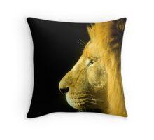 A Kings Profile Throw Pillow