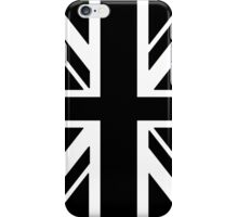 BRITISH, UNION JACK FLAG, UK, UNITED KINGDOM IN BLACK iPhone Case/Skin