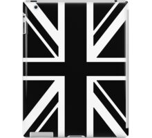 BRITISH, UNION JACK, FLAG, UK, UNITED KINGDOM, IN BLACK iPad Case/Skin